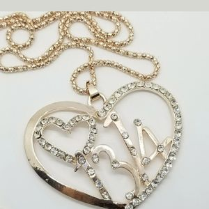Betsey johnson Necklace Heart 1314 Meaning Forever